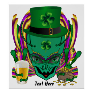 Saint Patrick s I drink in peace day 32 X35 Posters