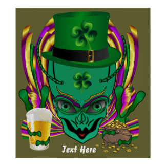 Saint Patrick s I drink in peace day 32 X35 Poster