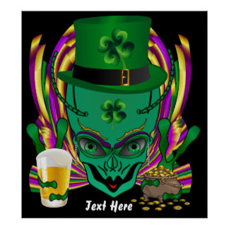 Saint Patrick s I drink in peace day 32 X35 Print