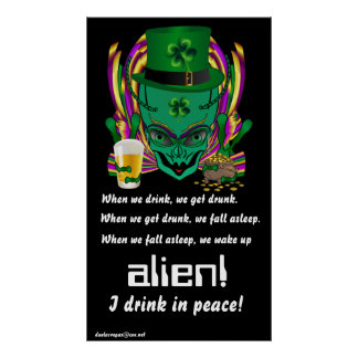 Saint Patrick s I drink in peace day 34 X60 Posters