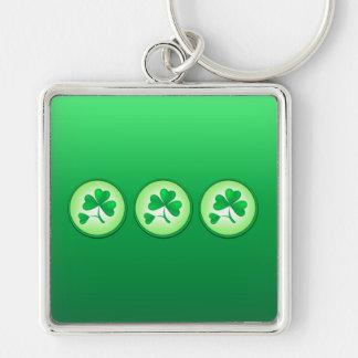 Saint Patrick Shamrock Leaf Key Chains