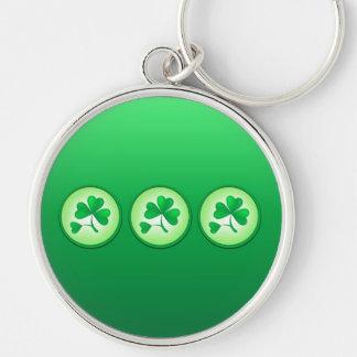 Saint Patrick Shamrock Leaf Keychain