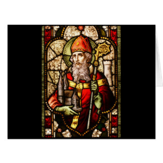 Saint Patrick Stained Glass Big Greeting Card