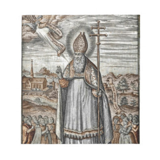 Saint Patrick with Snakes at His Feet Notepads