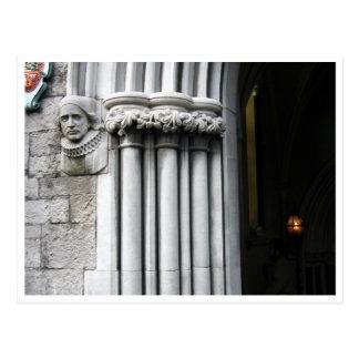 Saint Patricks Cathedral entrance archway Postcard