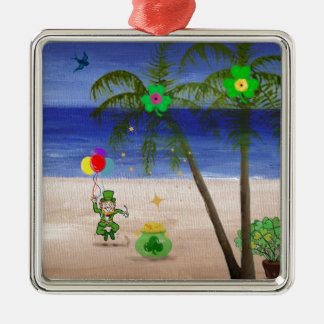Saint Patrick's Day at the Beach.jpg Christmas Ornaments