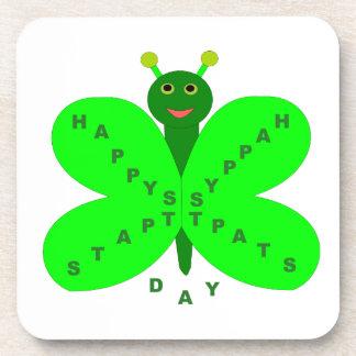 Saint Patricks Day Butterfly Coaster