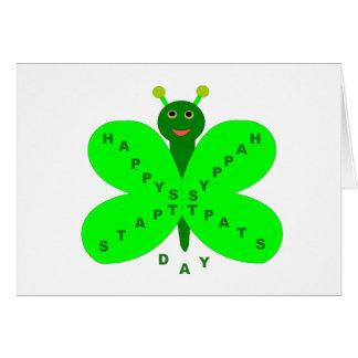 Saint Patrick's Day Butterfly Customizable Card