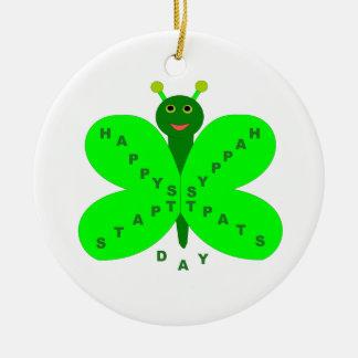 Saint Patricks Day Butterfly Ornament