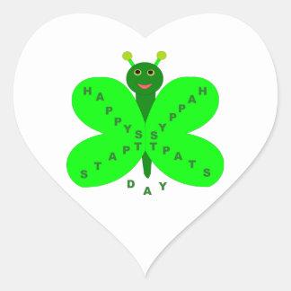 Saint Patricks Day Butterfly Sickers Heart Sticker