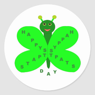 Saint Patrick's Day Butterfly Stickers