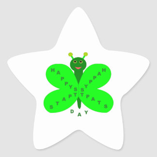 Saint Patricks Day Butterfly Stickers