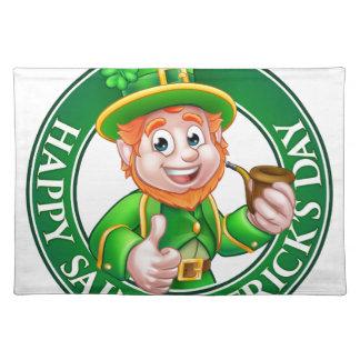 Saint Patricks Day Cartoon Leprechaun Sign Placemat