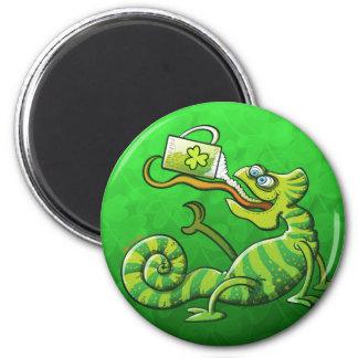 Saint Patrick's Day Chameleon Magnets