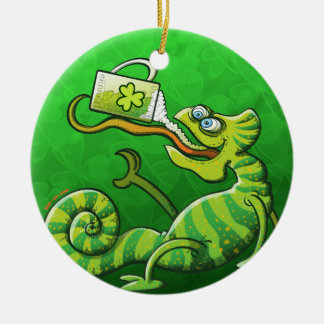 Saint Patrick's Day Chameleon Ornaments