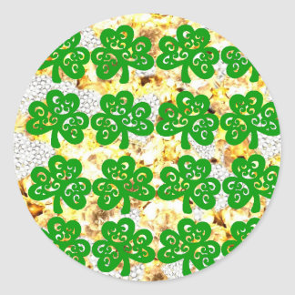 SAINT PATRICKS DAY CLASSIC ROUND STICKER