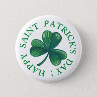 Saint Patrick's Day Clover 6 Cm Round Badge