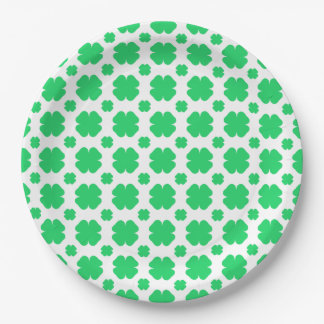 Saint Patrick's Day Clover Patterned Paper Plate