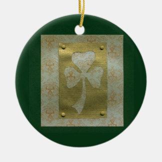 Saint Patrick's Day collage # 20 Round Ceramic Decoration