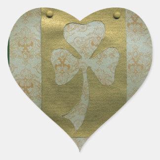 Saint Patrick's Day collage # 20 Heart Sticker