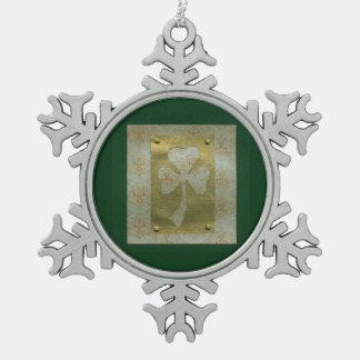 Saint Patrick's Day collage # 20 Pewter Snowflake Decoration