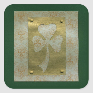 Saint Patrick's Day collage # 20 Square Sticker