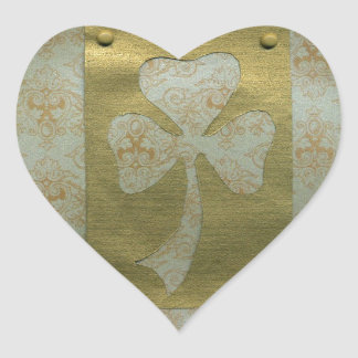 Saint Patrick's Day collage # 20 Heart Sticker