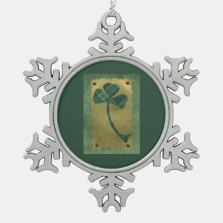 Saint Patrick's Day collage # 21 Pewter Snowflake Decoration