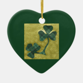 Saint Patrick's Day collage # 22 Ceramic Heart Decoration