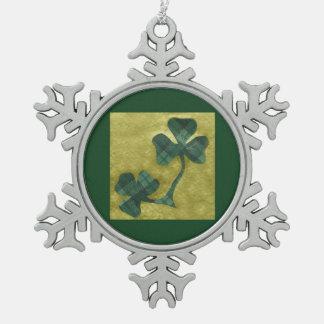 Saint Patrick's Day collage # 22 Pewter Snowflake Decoration