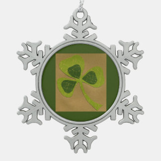 Saint Patrick's Day collage # 23 Snowflake Pewter Christmas Ornament