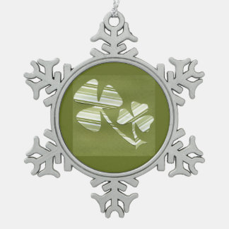 Saint Patrick's Day collage # 24 Pewter Snowflake Decoration
