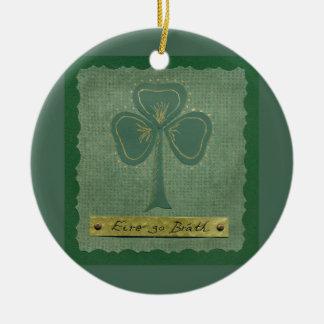 Saint Patrick's Day collage # 25 Round Ceramic Decoration