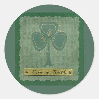 Saint Patrick's Day collage # 25 Round Sticker
