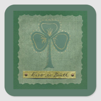 Saint Patrick's Day collage # 25 Square Sticker