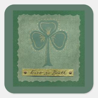 Saint Patrick's Day collage # 25 Square Sticker