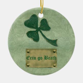 Saint Patrick's Day collage # 26 Round Ceramic Decoration