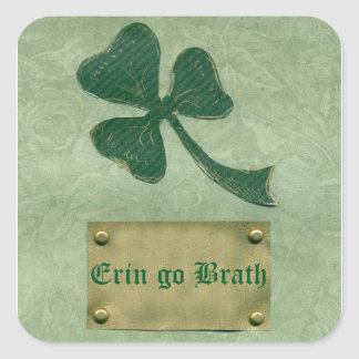 Saint Patrick's Day collage # 26 Square Sticker