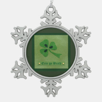 Saint Patrick's Day collage # 27 Pewter Snowflake Decoration