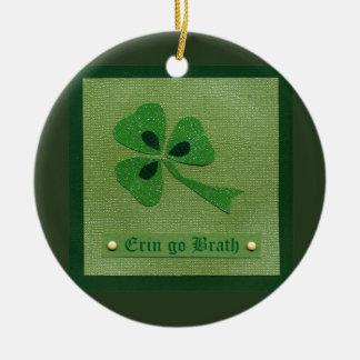 Saint Patrick's Day collage # 27 Round Ceramic Decoration