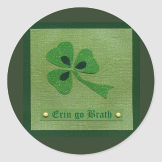 Saint Patrick's Day collage # 27 Round Sticker