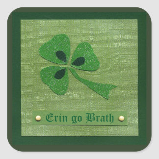 Saint Patrick's Day collage # 27 Square Stickers