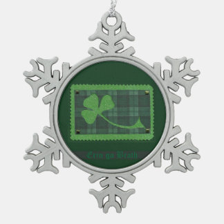 Saint Patrick's Day collage # 28 Pewter Snowflake Decoration