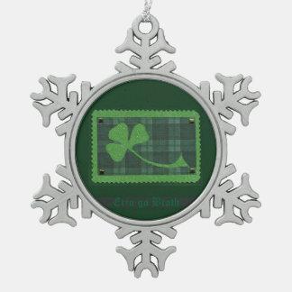 Saint Patrick's Day collage # 28 Pewter Snowflake Decoration