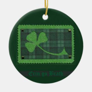 Saint Patrick's Day collage # 28 Round Ceramic Decoration