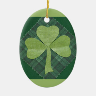 Saint Patrick's Day collage # 2 Ceramic Oval Decoration