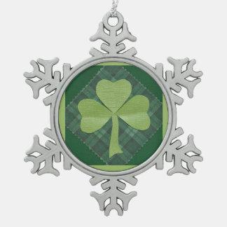 Saint Patrick's Day collage # 2 Pewter Snowflake Decoration