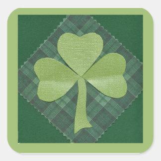 Saint Patrick's Day collage # 2 Square Sticker