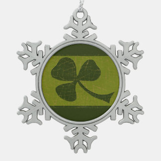 Saint Patrick's Day collage # 30 Pewter Snowflake Decoration