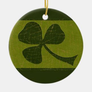 Saint Patrick's Day collage # 30 Round Ceramic Decoration